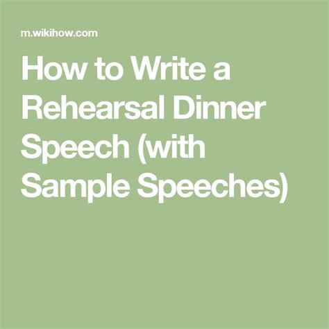 ideas  rehearsal dinner speech  pinterest