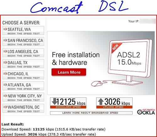 comcast DSL