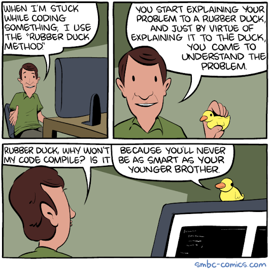 Saturday Morning Breakfast Cereal - The Rubber Duck Method