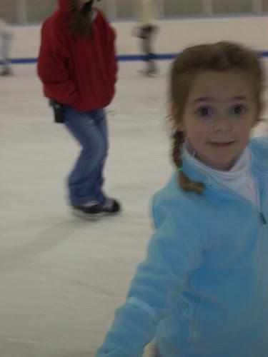 Willow skating close up