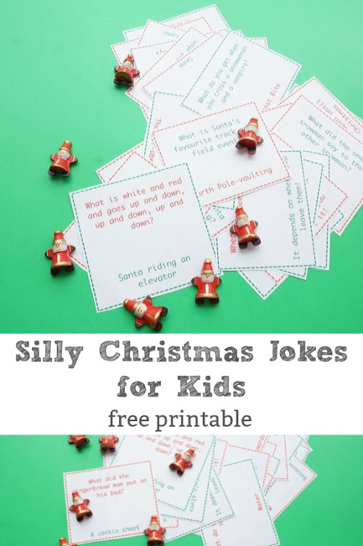 Print Off and Share 24 Silly Christmas Jokes for Kids