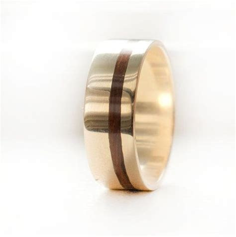 """""""VERTIGO"""" IN 14K GOLD WITH WOOD INLAY (available in 14K"""