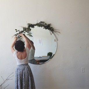 circle mirror + garland