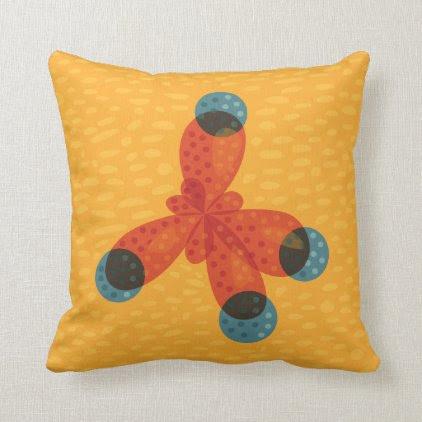Chemistry Geek Orange Methane Molecule Throw Pillow