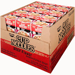 Nissin Cup Noodles, Beef - 24 pack, 2.25 oz cups