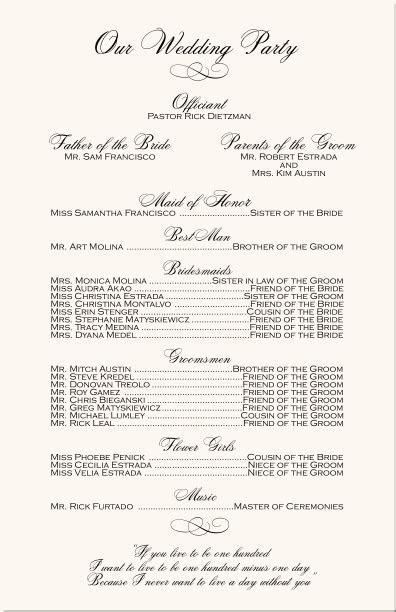 Engagement Photograpy Wedding Program  Monogram Wedding