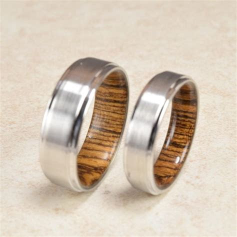 Cobalt & Bocote Wood Lined Ring // Engagement Ring