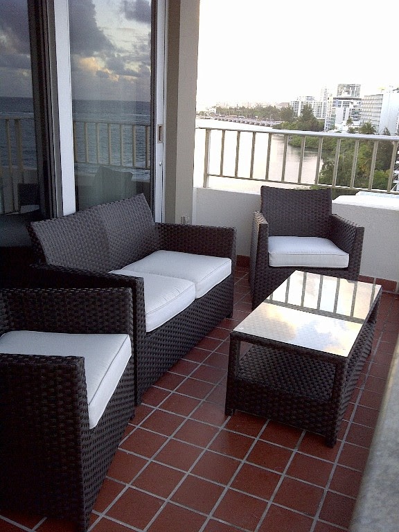 small patio set for apartment