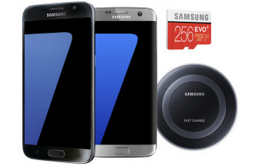 Deal: Get a Samsung Galaxy S7 or S7 edge with free gift card, 256 GB memory card, and wireless charger
