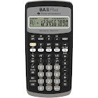 Texas Instruments TI BA-II Plus Financial Calculator - 10 Digits - Black
