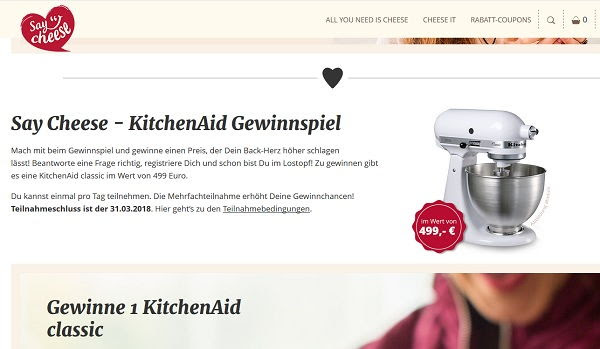 kitchenaid gewinnen januar 2018 kitchen 2018. Black Bedroom Furniture Sets. Home Design Ideas