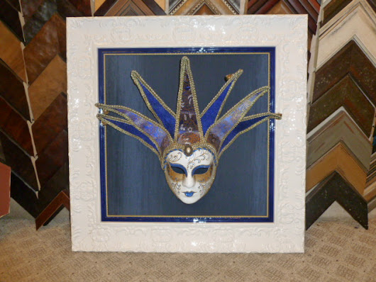 Frame for Madi Gras mask |
