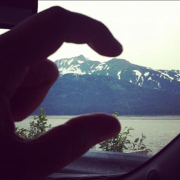 Hmmmmm. I expected the mountains to be bigger. #alaska #haha