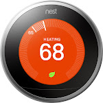 Google - Nest Learning Smart Thermostat - 3rd Generation - Stainless Steel