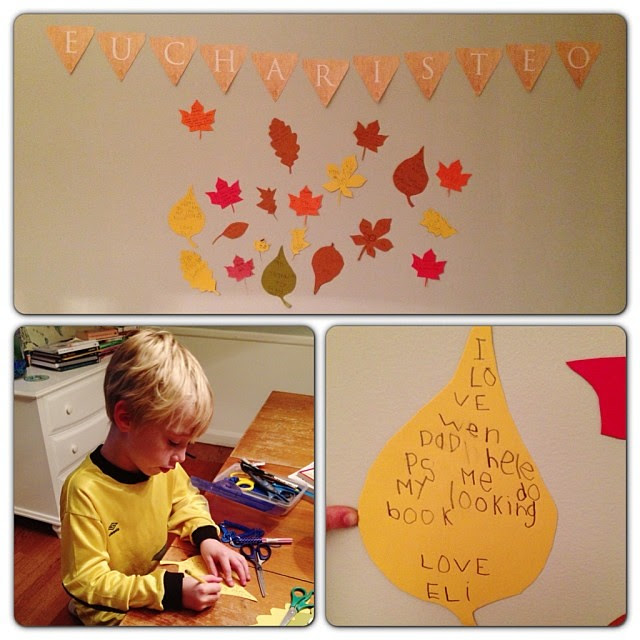 Such a gift to see Eli's heart of gratitude... #heloveshisdaddy, #1000gifts, #eucharisteo