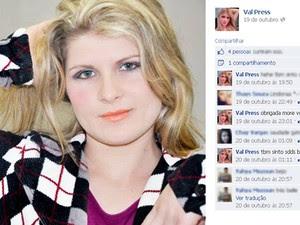 Valdinéia Conceição Prechesniuk foi reconhecida em Valinhos por irmão de Santa Catarina (Foto: Reprodução/Facebook)