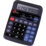 SKILCRAFT 12-Digit Desktop Calculator, Display, Dual-Powered, Black (NSN4844560)