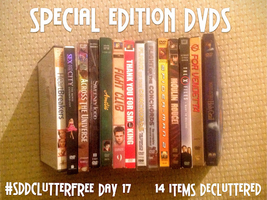 SDD Clutter Free Day 17: DVDS Decluttered; Procrastination VS Mindfulness