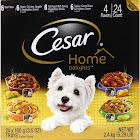 Cesar Home Delights Canine Cuisine, 4 Flavors - 24 pack, 3.5 oz trays