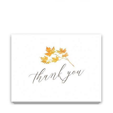 Fall Leaves Wedding Invitation Watercolor Leaves Script