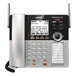 VTech - CM18445 Main Console - DECT 6.0 4-Line Expandable Small Business Office Phone with Answering System - Silver