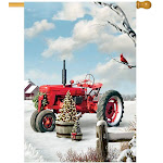 Custom Decor House Flag - Red Tractor