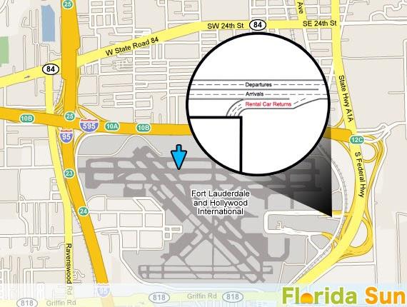 fort lauderdale airport car rental map - carports garages