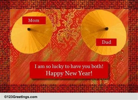 Chinese New Year Wish For Parents! Free Family eCards