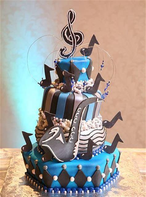 Jazz Theme Mitzvah Cake made by Granny Schmidt's Bake Shop
