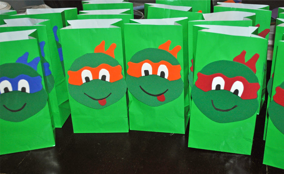 Tmnt Party Ideas Diy Ninja Turtle Goodie Bags Mommys Fabulous Finds