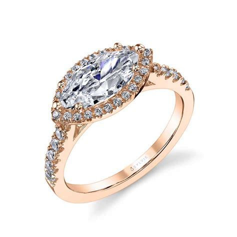 Anabella   Marquise Shaped Engagement Ring With Halo  SY980