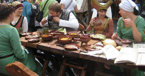 Medieval meal in Old Tallinn in 2009 by Anna Amnell