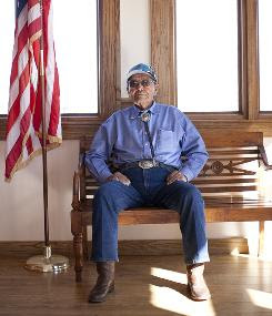 Frank Chee Willetto, pictured at the Gallup Cultural Center in New Mexico, is working to raise funds for a Code Talkers museum.