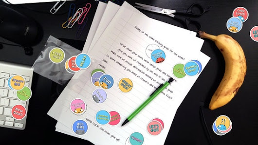 Stickers with Goal Sheets Paper  Printed by ThinkHappyIdeas