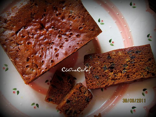 """steamed fruitcake 6""""x6"""" (800g)"""