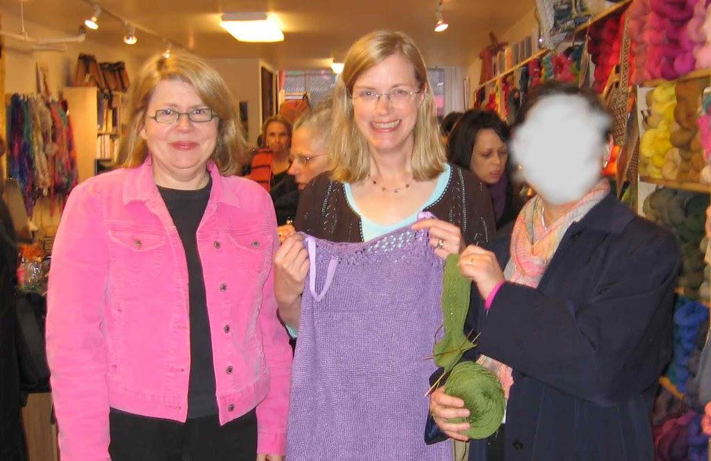 Mason-Dixon knitbloggers, nightie, sock, and shy