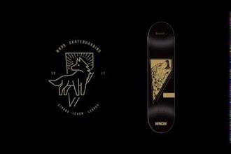 "WNDR Launch Limited Skateboard deck ""Lone Wolf"""