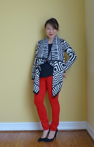 patterned & red