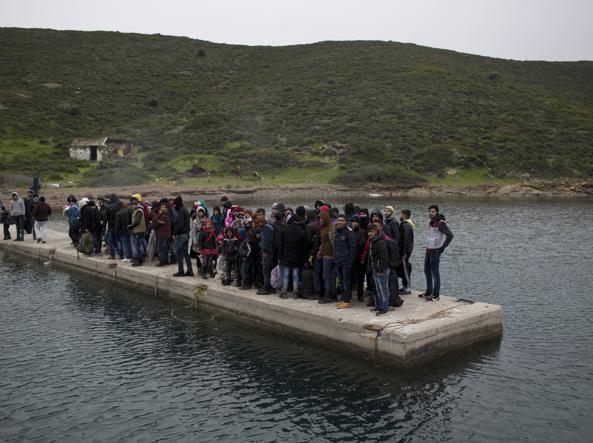 Rifugiati e migranti arrivati dalla Turchia in Grecia