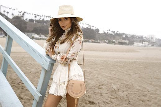 Le Fashion Blog Floral Top Ruffled Mini Skirt Chloe Purse Via Life With Me