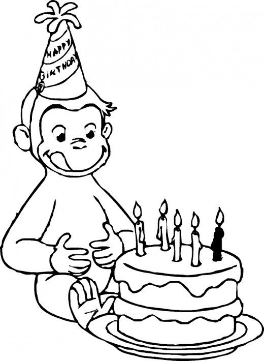 Curious George Coloring Pages for Children