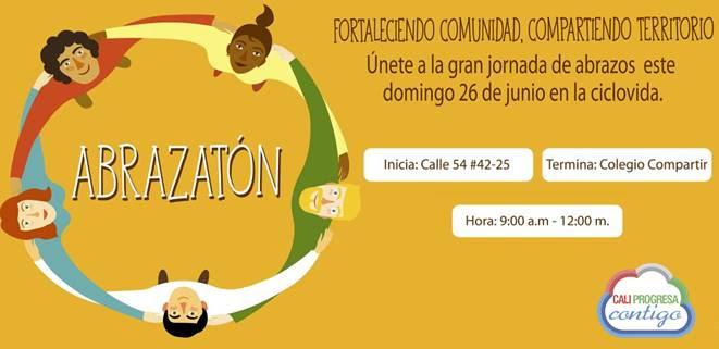 Este domingo, más de 200 jóvenes se tomarán la Ciclovía con el Abrazatón
