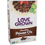 Love Grown Foods - Toasted Cereal made with Beans - Chocolate Power O's (10 oz.) - Cold