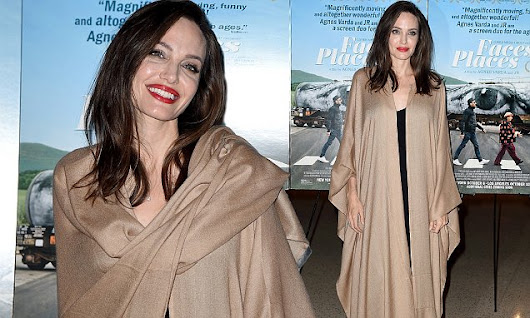 Angelina Jolie looks carefree at Faces Places premiere | Daily Mail Online