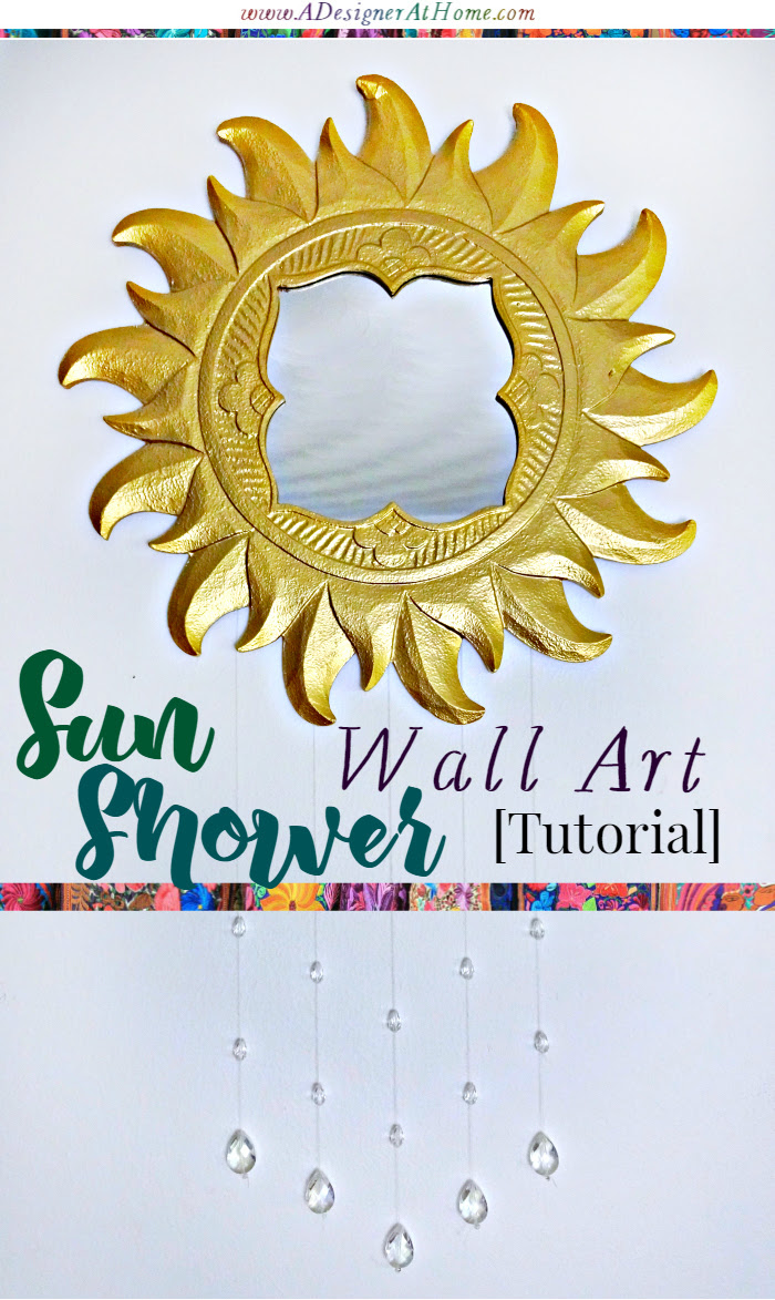 Tutorial thrifted wall mirror to sunshower wall art