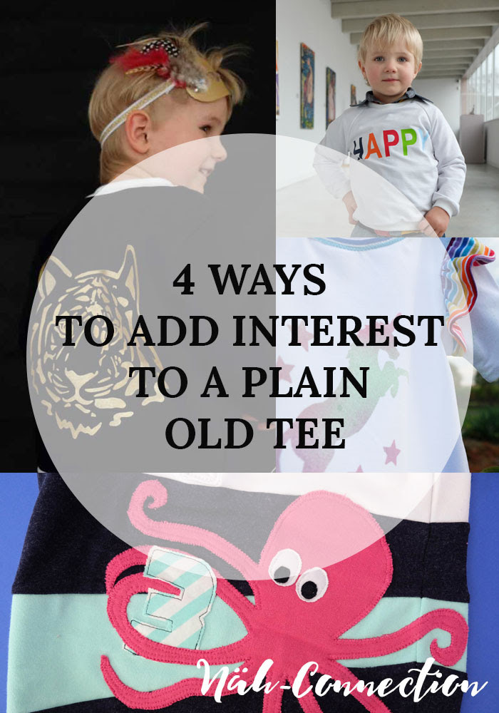 4 ways to add interest to a plain old tee (a collection by Näh-Connection)