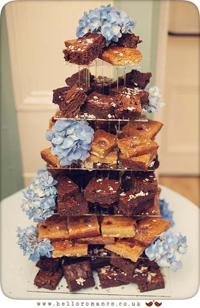 Chocolate Brownie Wedding Cake Flapjacks - Hadleigh Wedding Photography Suffolk- Hello Romance