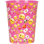Unique Industries 262405 16 oz Emoji Pink Plastic Favor Cup