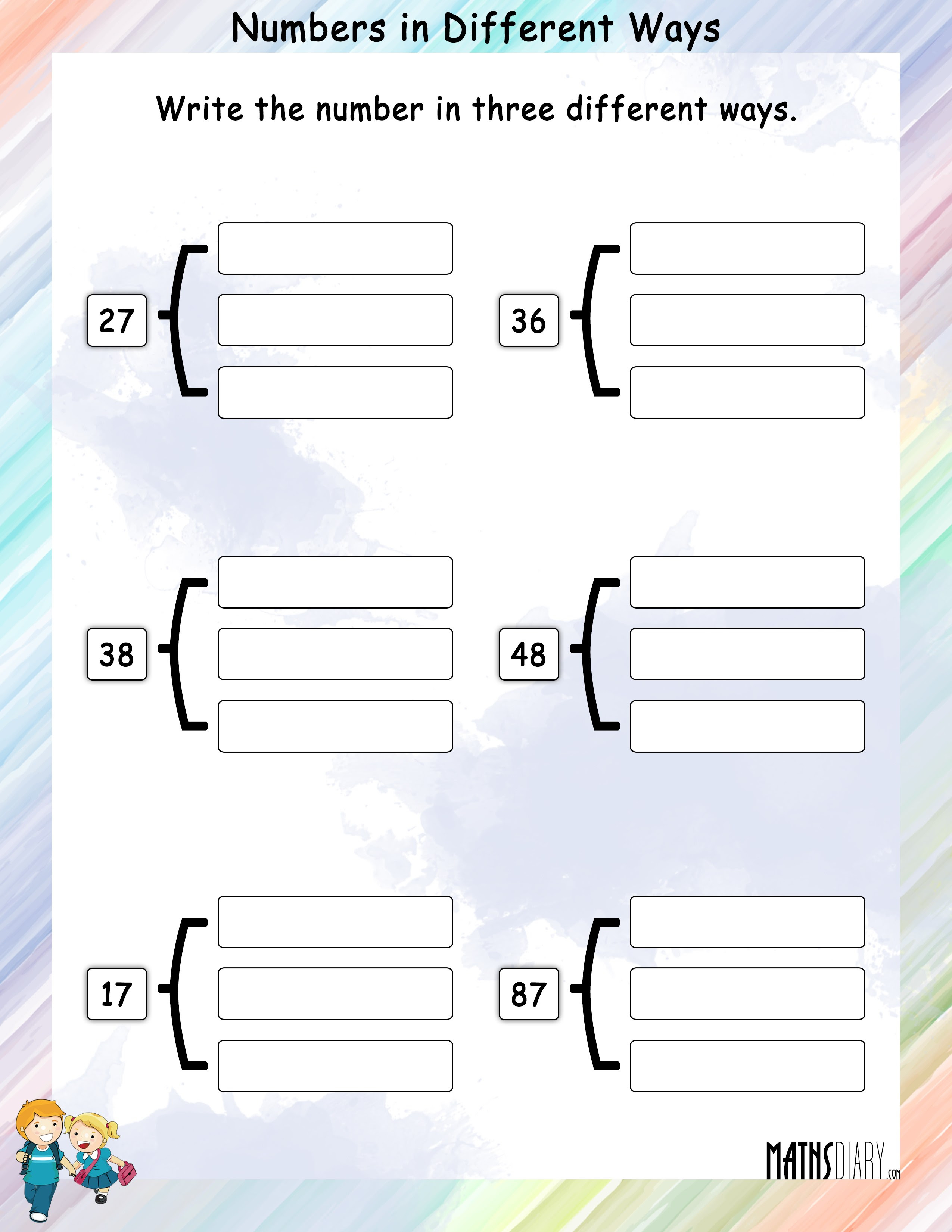 Write Numbers In Different Ways Mathsdiarycom