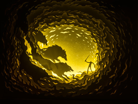 Illuminated Cut Paper Light Boxes by Hari & Deepti | Colossal